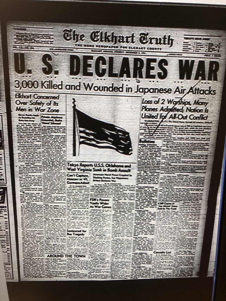News of the fateful day Pearl Harbor was attacked.
