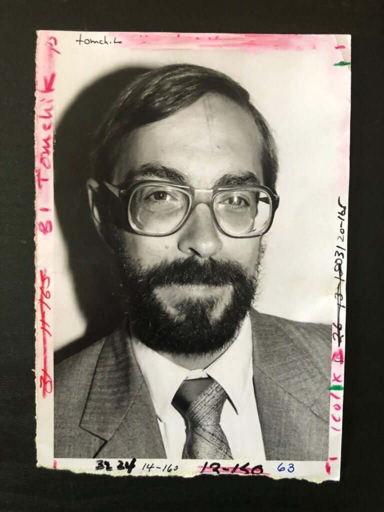 Dr. Robert Tomchik in an Elkhart Truth photo from July 1988.